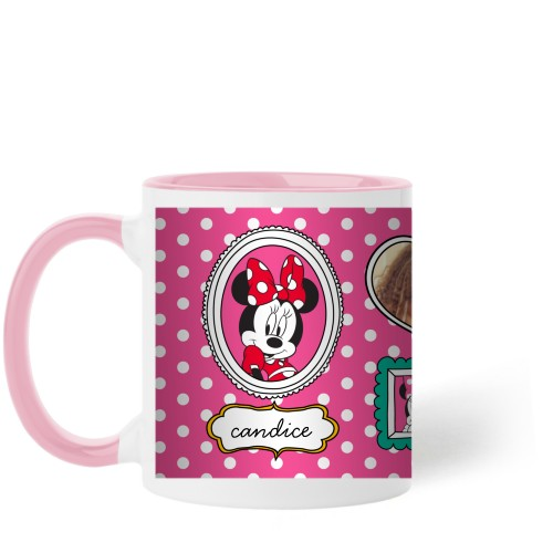 Disney Minnie And Friends Mug, Pink,  , 11 oz, Pink