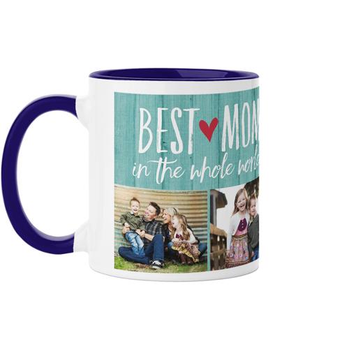 Best Mom Mug, Blue,  , 11 oz, Blue