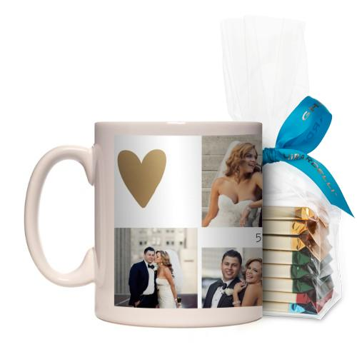 Love Is All You Need Mug, White, with Ghirardelli Assorted Squares, 11oz, goldfoil