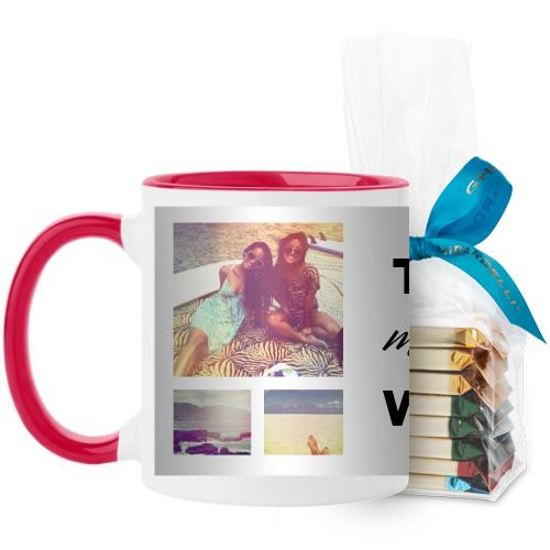 This Might Be Wine Mug, Red, with Ghirardelli Assorted Squares, 11 oz, White