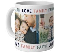 faith love family mug