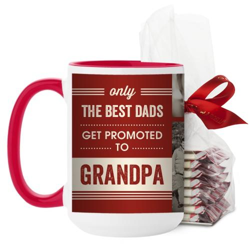 The Best Mug, Red, with Ghirardelli Peppermint Bark, 15 oz, Red