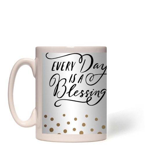 Blessing Organic Dots Border Mug
