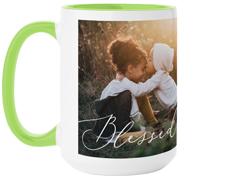 blessed script mug
