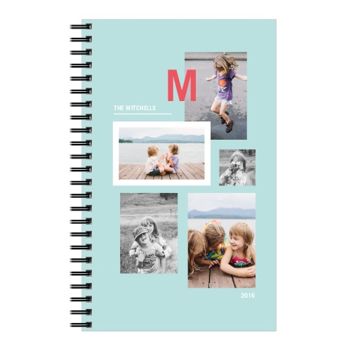 Modern Monogram Notebook, 8x5, DynamicColor