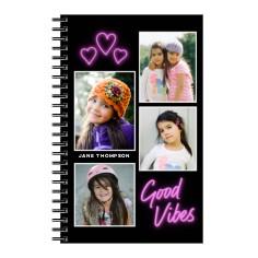 emoji good vibes 5x8 notebook
