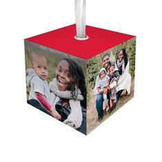 photo gallery cube ornament