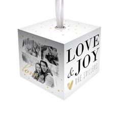 love joy cube ornament