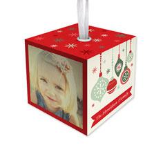 merry little christmas cube ornament