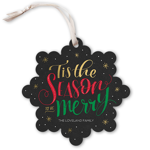 Tis The Season Flurries Christmas Card, Square