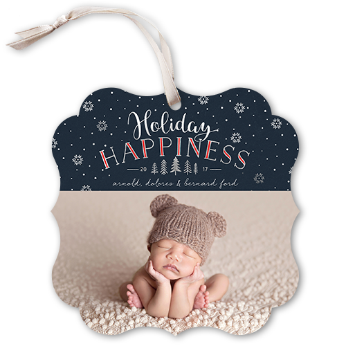 Whimsy Falling Flakes Holiday Card, Square