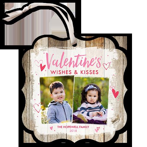 Rustic Day Valentine's Card, Square