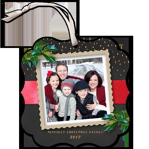 Fantastic Scalloped Frame Christmas Card