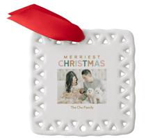 soft glow christmas ceramic ornament