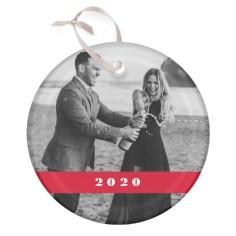shining year glass ornament