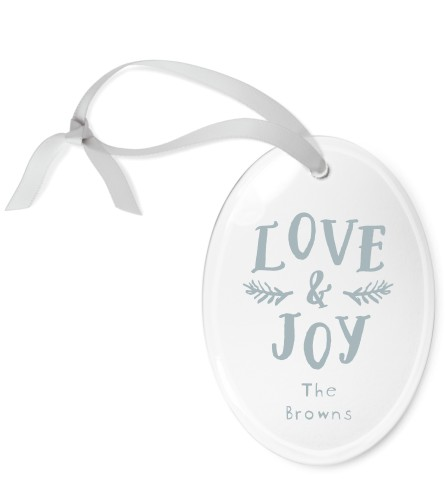 Love And Joy Etched Glass Ornament