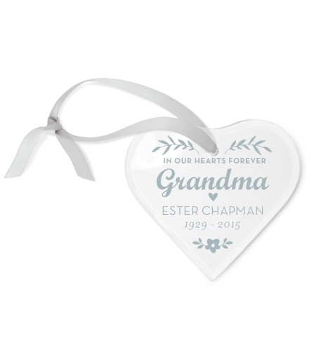 Loving Memory Etched Glass Ornament