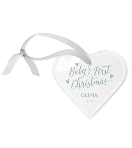 Baby's First Etched Glass Ornament