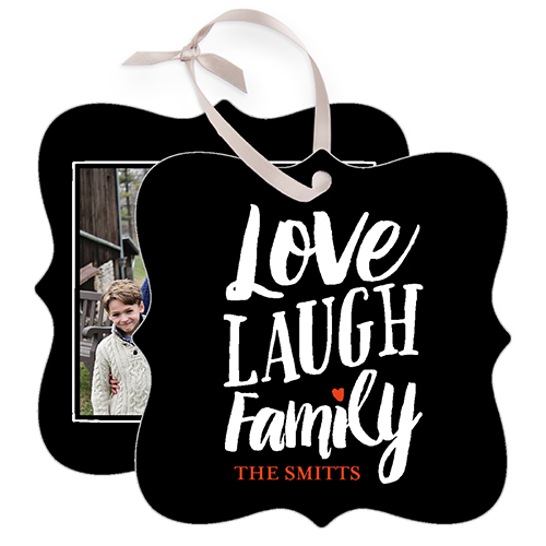 Love Laugh Family Metal Ornament