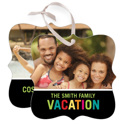 Vacation Memories Deco Square Metal Ornament