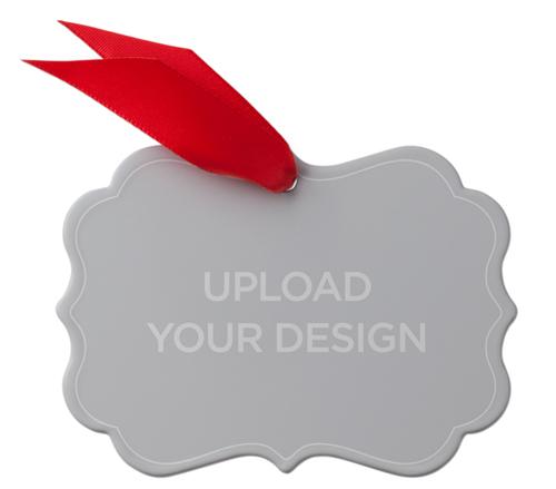 Upload Your Own Design Metal Ornament, Multicolor, Rectangle_Bracket