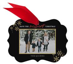 merriest christmas snowflakes metal ornament