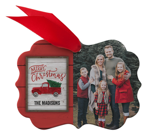 Red Truck Christmas Metal Ornament Christmas Ornaments Shutterfly