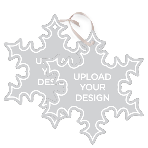 Upload Your Own Design Metal Ornament, Multicolor, Snowflake