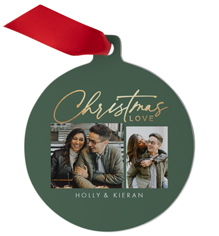christmas love collage metal ornament