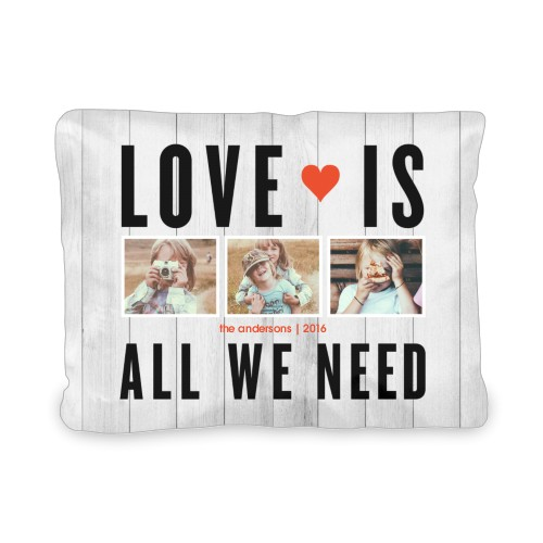 Love Is All We Need Outdoor Pillow, Pillow (Navy), 12 x 16, Single-sided, Grey