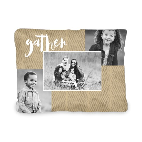 Gather Texture Collage Outdoor Pillow, Pillow (Ivory), 12 x 16, Single-sided, Beige