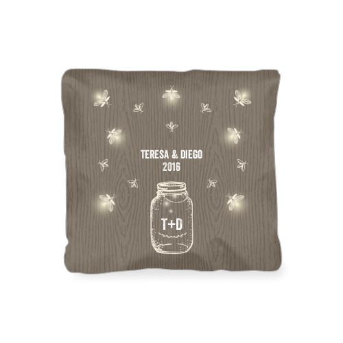 Forever Fireflies Outdoor Pillow, Pillow, 16 x 16, Double-sided, Brown