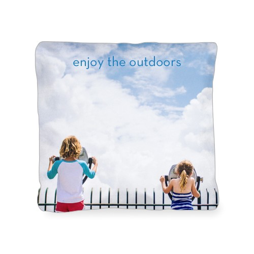 Photo Gallery Outdoor Pillow, Pillow (Navy), 18 x 18, Single-sided, Multicolor