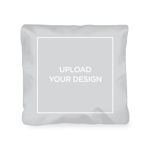 Upload Your Own Design Outdoor Pillow, Pillow (Ivory), 18 x 18, Single-sided, Multicolor