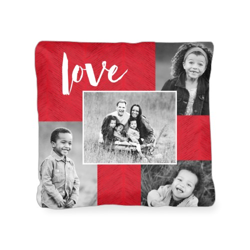 Love Texture Collage Outdoor Pillow, Pillow (Ivory), 18 x 18, Single-sided, DynamicColor