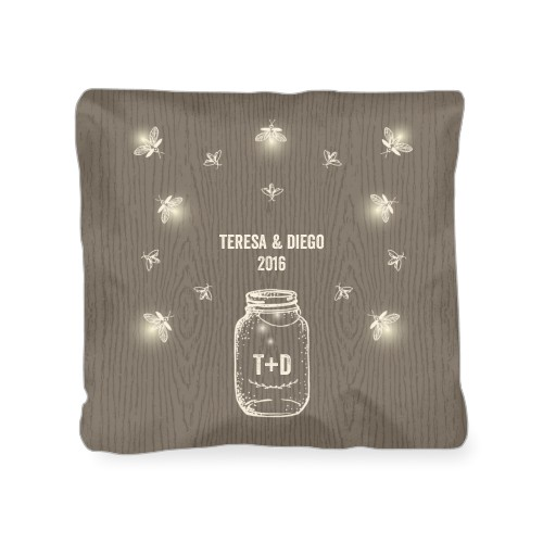 Forever Fireflies Outdoor Pillow, Pillow (Navy), 18 x 18, Single-sided, Brown