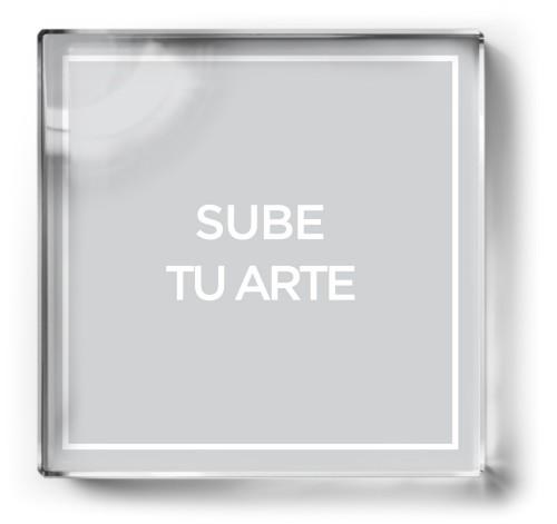 Sube Tu Arte Paper Weight, Square Paper Weight, Multicolor