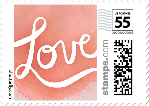 Love Script Personalized Postage Stamps