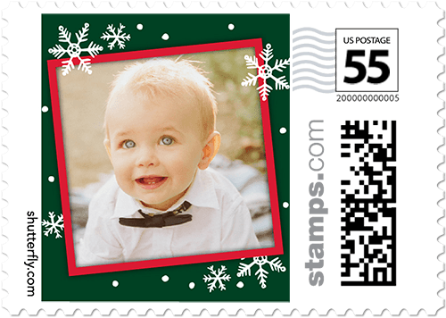 Favorite Flurry Frame Personalized Postage Stamps
