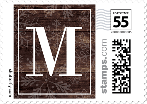 Monogram Texture Personalized Postage Stamps