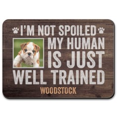 im not spoiled pet placemat
