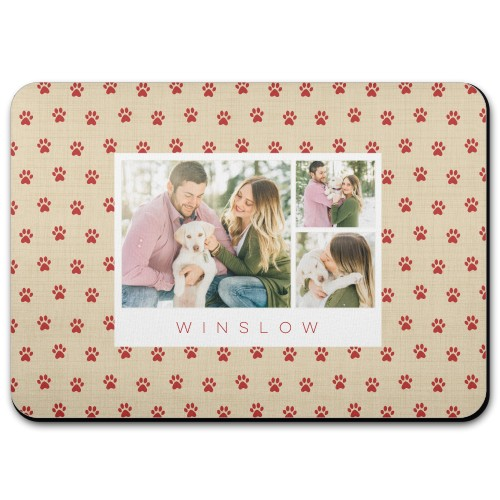 deck the paws holiday paws monogram pet placemat by shutterfly pet