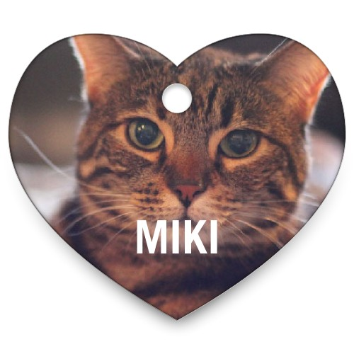 Photo Gallery Heart Pet Tag