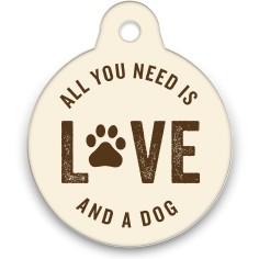 all you need circle pet tag