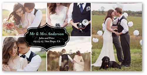 Label Overlap Wedding Announcement