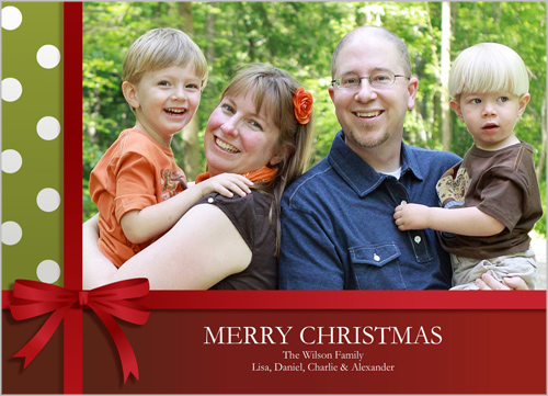 Wrapped In Dots Christmas Card