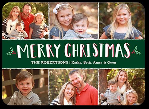 Sweet Holly Frames Christmas Card