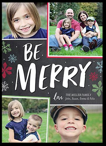Be Merry Frames Christmas Card