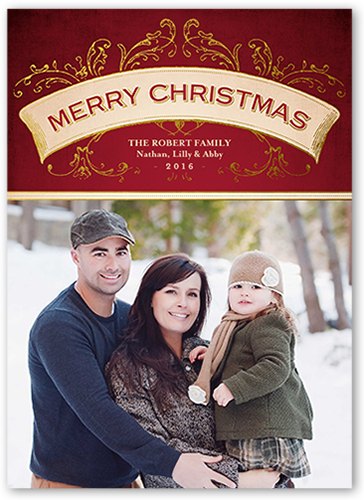 Simple Vintage Banner Christmas Card