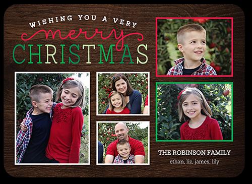 Classic Festive Greetings Christmas Card, Square